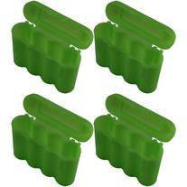 AA AAA CR123A Green Battery Holder Storage Case 4 Cases