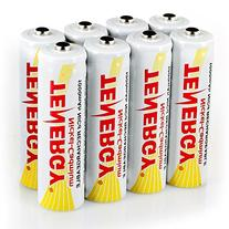 Combo: 8 Tenergy AA NiCd 1.2V Rechargeable Batteries for