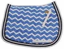 Equine Couture Abby Saddle Pad Blue/Navy