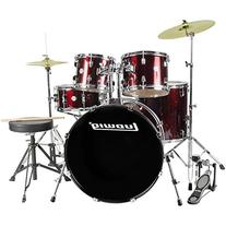 Ludwig Accent Drive 5-Pc Drum Set  Wine Red Sparkle -