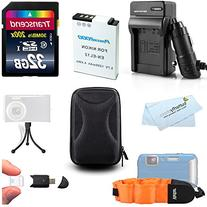 32GB Accessories Kit For Nikon COOLPIX AW120, AW110, AW100,