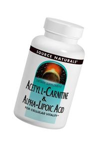 Source Naturals Acetyl L-Carnitine and Alpha-Lipoic Acid --