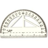 Officemate Achieva 4-Inch Protractor and Ruler, Clear, 12