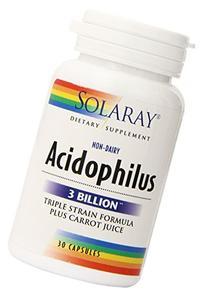 Solaray Acidophilus Plus Carrot Juice 3bil, 30 Count