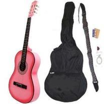 """38"""" PINK Acoustic Guitar Starter Package, Guitar, Gig Bag,"""