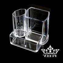 PUEEN Acrylic Makeup Brush and Cosmetic Holder Organizer