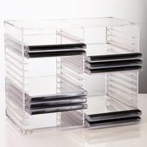 Stackable Clear Plastic CD Holder - holds 30 standard CD