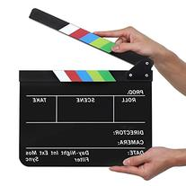 Flexzion Acrylic Plastic Clapboard Director's Clapper Board