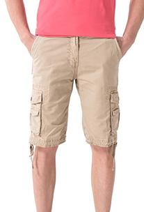 WenVen Men's Active Cargo Shorts Cotton Outdoor Wear