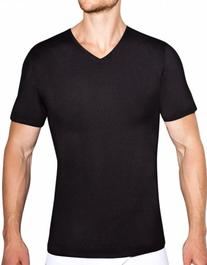 Naked Men's Active Silver V-Neck T-Shirt, Black, X-Large