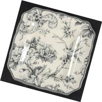 222 Fifth  Adelaide-Grey & White Square Salad Plate, Fine