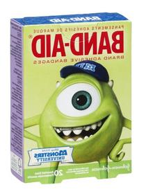 Band-Aid Adhesive Bandages, Monsters University, Assorted
