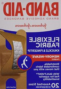 Band-Aid Brand Adhesive Bandages Flexible Fabric, Knuckle