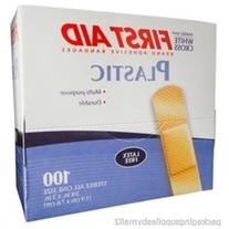 Adhesive Bandages Latex Free Plastic Patch 3/4X3 2 Boxes  -