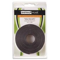 "** Adhesive-Backed Magnetic Tape, Black, 1/2"" x 10ft, Roll"