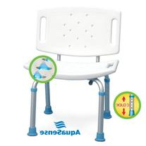 AquaSense Adjustable Bath and Shower Seat with Non-Slip Seat