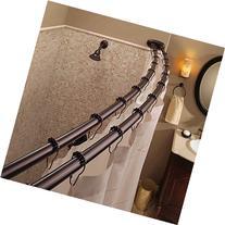 Bennington Adjustable Double Curved Shower Curtain Rod, Oil