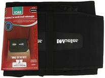 Mueller Adjustable Lumbar Support Back Brace with Removable Pad, Black, Plus Size