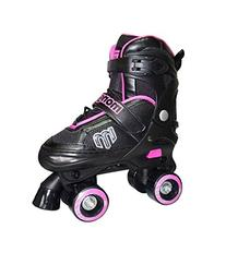 Mongoose Adjustable Quad Roller Skate- Pink and Black- Sizes