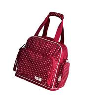 Adjustable Space Back Pack Messenger Diaper Bag Red