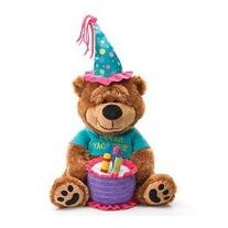 Adorable Happy Birthday Teddy Bear With Cake That Plays ""