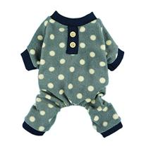 Fitwarm Adorable Polka Dots Fleece Dog Pajamas Pet Coats