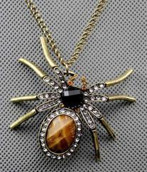 Jade Onlines Adorable Fashion Rhinestone Big Spider Long