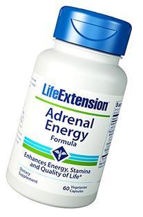 Life Extension Adrenal Energy Formula Vegetarian Capsules,