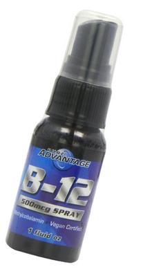 Pure Advantage B-12 Methylcobalamin Spray, 1 Fluid Ounce