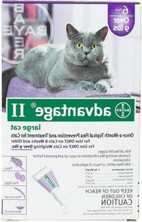 Advantage II Topical Flea Control - Over 9 lbs - 6 pack