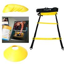 AGILITY LADDER Bundle By Trained with 6 SPORTS CONES ,