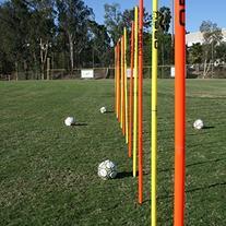 Uber Soccer Agility Poles - 2-Piece - Set of 12