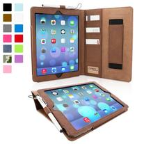 Snugg Leather Flip Stand Case for iPad Air - Brown
