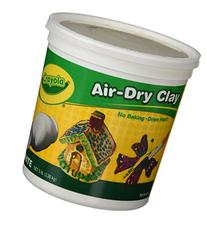 Crayola Air-Dry Clay, White, 5 lb. Resealable Bucket, Great