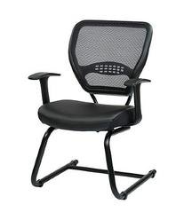 Professional Air Grid Back Visitors Chair With Eco Leather