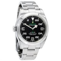 Rolex Air King Black Dial Stainless Steel Mens Watch