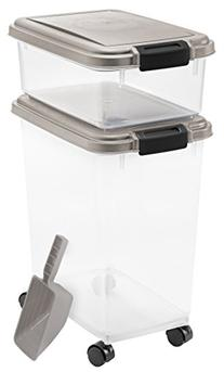 Airtight Food & Treat Storage Plastic Containers w/Scoop