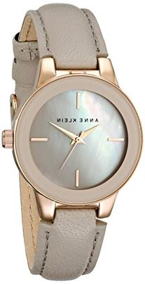 Anne Klein Women's AK/2032RGTP Rose Gold-Tone and Taupe