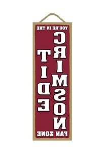 Alabama Crimson Tide Fan Zone Wood Sign