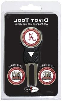 NCAA Alabama Crimson Tide 3 Marker Signature Golf Divot Tool