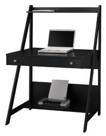 Bush Furniture Alamosa Ladder Desk in Classic Black