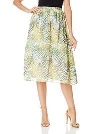 BB Dakota Women's Aldis Cool Grass Crinkle Chiffon Skirt,