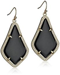 "Kendra Scott ""Signature"" Alex Gold plated Black Glass Drop"