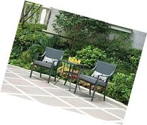 Alexandra Square 3-piece Outdoor Bistro Set, Grey with