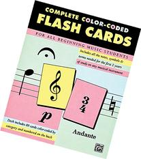 Complete Color Coded Flash Cards for All Beginning Music