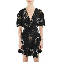 Women's Topshop Unique Alice Silk Minidress