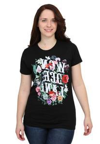 Alice In Wonderland Flowers Womens T-Shirt