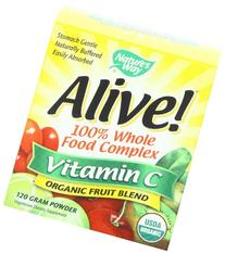 Natures Way Alive! Organic Vitamin C 120G Powder