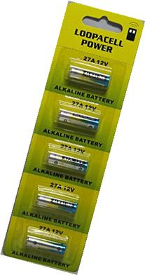 Loopacell 12 Volt Alkaline Alarm Remote Battery MN27/A27 5