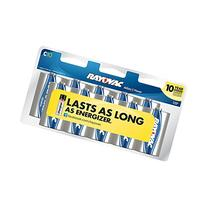 Rayovac Alkaline C Batteries, 814-10CF, 10-Pack with